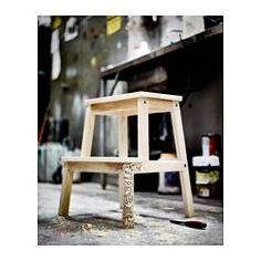 IKEA - BEKVÄM, Step stool, Solid wood is a durable natural material.Hand-hole in the top step makes the step stool easy to move. Learning Tower Ikea, Ikea Step Stool, Ikea Bekvam, Diy Art Projects, Affordable Furniture, Furniture Styles, Decorating Your Home, Living Room Furniture, Kitchen