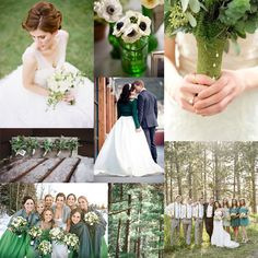 Pine and Mint Green Wedding Inspiration