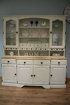 Lovely Shabby Chic Large 6ft Pine Ducal Style Farmhouse Welsh Dresser Sideboard