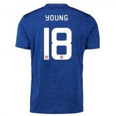 Manchester United 16-17 Ashley Young 18 Bortatröja Kortärmad  #Fotbollströjor