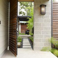 Horizontal Ipe Gate Asian Landscape by RH Factor Landscape Design
