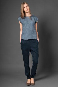 Linen pants summer pants for women trousers linen by HomeOfNature
