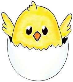 today i will show you how to draw a cartoon baby chick in a broken egg - Drawing For Little Kids