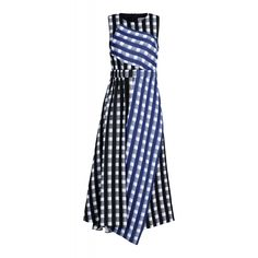 Sportmax Gingham Asymmetrical Dress, $1,212; shopbazaar.com     - ELLE.com