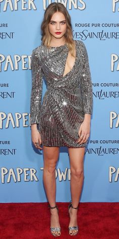 Cara Delevingne's Red Carpet Style - In Saint Laurent, 2015 from InStyle.com