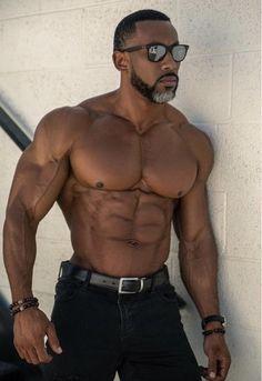 Mature Men With A Purpose — Find me him! Hot Black Guys, Fine Black Men, Gorgeous Black Men, Handsome Black Men, Fine Men, Beautiful Men, Hot Guys, Dark Man, Black Muscle Men