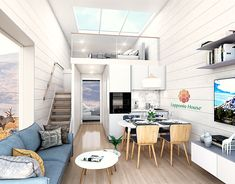 Lapponia Minihomes are energy-efficient and breathing modular thermolog houses.  See more: www.lapponiahouse.com  #minihome #minihouse #tinyhouse #tinyhome #travel #nordiclightscabin #cabin #tinyliving #camping #glamping #tinyhousemovement #nature #architecture #minimalist #minimalism #cabinlife #modularhouse #mobilemodulehome #tinyhouselife #wanderlust #adventure #tinyhouseliving #interiordesign #tinyhousenation #glassroofhouse #glasshouse #sceneryhouse #lapponiahouse Small Kitchen Storage, Functional Kitchen, Tiny House Nation, Farm Sink, Tiny House Movement, Tiny House Living, House Roof, Glass House, Log Homes