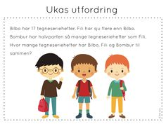 ukas utfordring Aktiv, Brain Teasers, Challenges, Classroom, Teaching, Manga, Education, Children, School