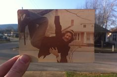 Dear Photograph, Grandmas tree may be gone, but my Dad is still hanging around the same neighborhood after all these years. David
