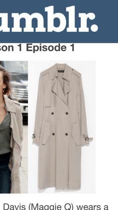 Zara Long Aline Trench Coat in taupe grey