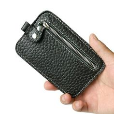Men card holder wallets for plastic cards leather Clutch Purse Coffee Black color Key Bag Drop shipping #7m