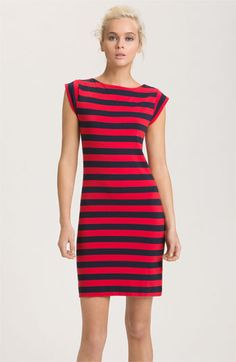 Memorial day or 4th of July outfit.  French Connection Stripe Cap Sleeve Knit Dress available at Nordstrom