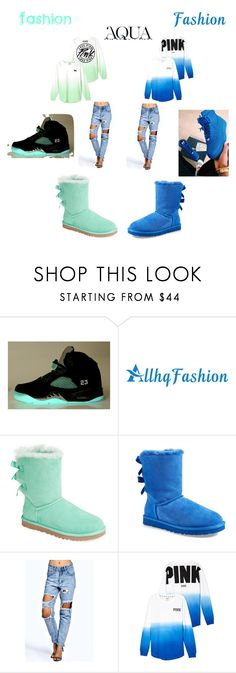 """Aqua"" by omg-its-katie ❤ liked on Polyvore featuring NIKE, UGG Australia, Anja, Boohoo and Victoria's Secret"