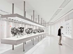 Exhibition room inside the BMW Museum in Munich by Atelier Brueckner.