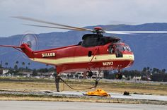 "(T-784) Sikorsky SH-3 ""Civilian Sea King"" (N45917) Siller Brothers Inc.,Air Tanker - One of President Richard Nixon's Presidential Helicopters"