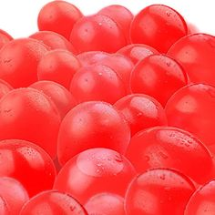 """Amazon.com: Cool & Fun {300 Count Pack} of 3"""" - 6"""" Inch """"Standard Size"""" Water Balloon Bomb Grenades Made of Latex Rubber w/ Classic Bright Shiny Battle or Decorative Valentine Design {Red}: Toys & Games"""