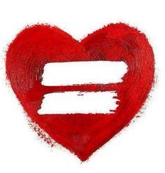 Rainbow heart. LGBT ally tat