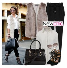 """""""Get the Look - Newchic"""" by fashionqueengirl ❤ liked on Polyvore featuring Aquazzura and Valentino"""