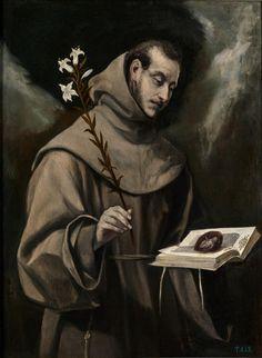 San Antonio de Padua Hacia 1580: El Greco Museo del Prado