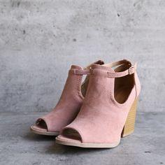 stella peep toe ankle bootie