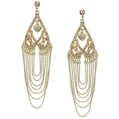 Alexis Bittar Teatro Moderne Gold Post Fringe Earring ($298 ...