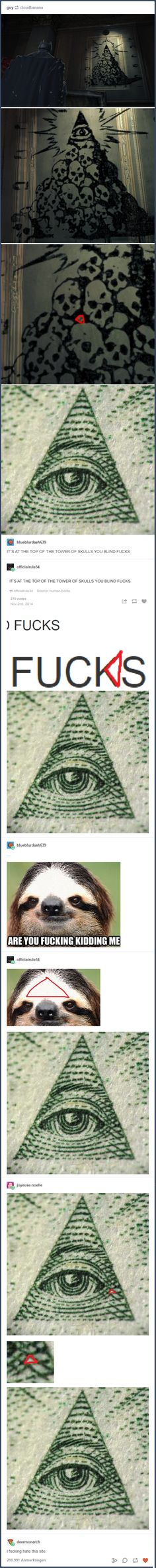 When everyone went looking for the illuminati symbol. | 18 Times The Responses Were The Best Thing About Tumblr