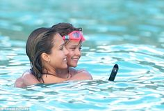 Jessica Alba lavishes love on her little ones as she enjoys a snorkelling adventure with husband Cash Warren and daughters in St Barths