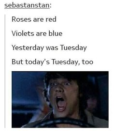 IT'S ACTUALLY TUESDAY