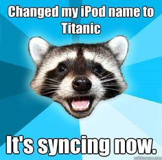 It's syncing now. Ah, Lame Pun Coon. :)