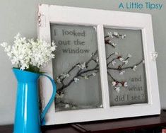 Ideas Using Old Paned Windows | Craft Ideas Using Old Windows | Spring Window ... | DIY wedding & home