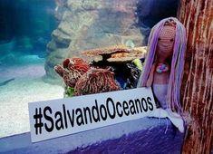Una preciosa sirena hecha por Tania Gonzalez Mauleón desde México, que además ha formado parte de la campaña  #SalvandoOceanos. Photo And Video, Videos, Instagram, Mermaid, Street, Parts Of The Mass, Patterns, Pictures