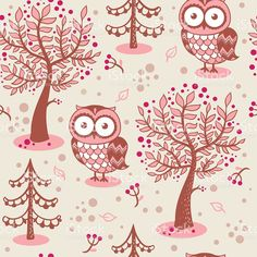 Vector background with owls. royalty-free stock vector art
