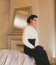 """Monica Bellucci in """"Another World of Style…Rei Kawakubo"""" photographed by Deborah Turbeville forUS Vogue, August 1987"""