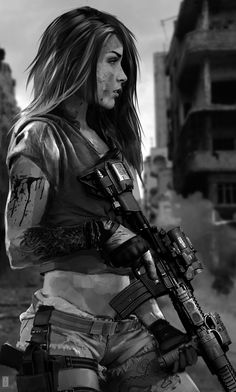 Cyberpunk Girl Wallpaper - HD Wallpaper For Desktop Background Fantasy Characters, Female Characters, Arte Assassins Creed, Character Inspiration, Character Art, Character Concept, Evvi Art, Post Apocalyptic Art, Cyberpunk Girl
