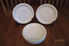 "Six 7 1/4"" Syracuse China Adobe Salad Plates ~ Scalloped Edge ~ Restaurant Ware"