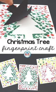 Create this Christmas Tree Thumbprint Art in your kindergarten classroom as your next Christmas craft! It's a fine motor Christmas craft idea for kids. crafts for kids Christmas Tree Thumbprint Art Craft Activities, Preschool Crafts, Christmas Crafts For Kindergarteners, Kindergarten Christmas Crafts, Christmas Activities For Toddlers, Preschool Age, 2nd Grade Christmas Crafts, Christmas Activites, Free Preschool