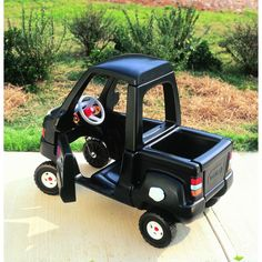 my son WILL have this cozy coupe truck. Cozy Coupe Truck, Toddler Toys, Kids Toys, Little Tikes Makeover, Cozy Coupe Makeover, Kids Play Equipment, Black Truck, Little Blue Trucks, Little Tykes