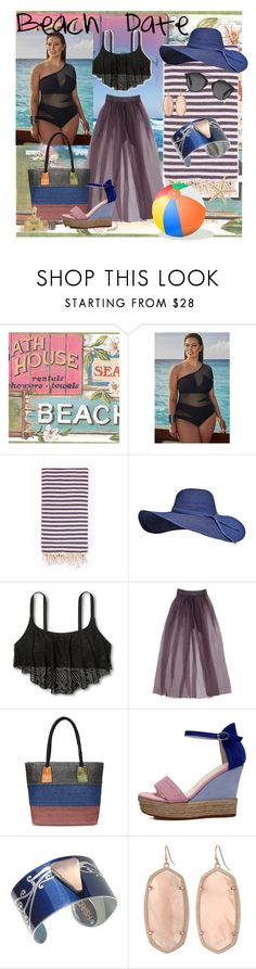 Summer Date:  The Beach (plus size) by pj-cox on Polyvore featuring VM, Kendra Scott, Christian Dior, Turkish-T, beach, plussize, summerdate and pjcoxblog
