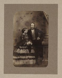 An albumen print photographic portrait of Queen Victoria (1819-1901) and Prince Albert (1819-1861), taken by an unknown photographer in about 1856.