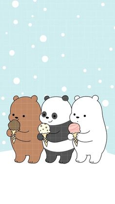 Iphone 6 We Bare Bears Christmas Wallpaper Cute Disney Wallpaper, Kawaii Wallpaper, Cute Wallpaper Backgrounds, Wallpaper Iphone Cute, Animal Wallpaper, Colorful Wallpaper, Mobile Wallpaper, Wallpaper Quotes, Nature Wallpaper