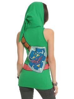Search for adventure with this Legend Of Zelda Link Hooded Tank Top Just Dance, Corset, Geek Fashion, Fandom Fashion, Cosplay, Geek Girls, Geek Chic, Legend Of Zelda, Geeks