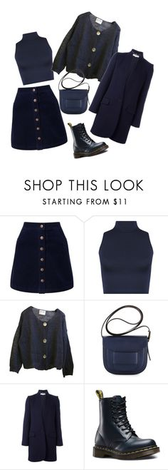 """""""blue"""" by candynena228 ❤ liked on Polyvore featuring Miss Selfridge, WearAll, Tory Burch, STELLA McCARTNEY and Dr. Martens"""