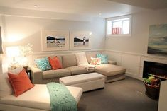 10 Finished Basement and Rec Room Ideas- 24 Cottonwood Lane #basementfamilyroomdesign