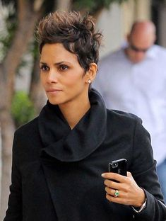 8 Widely Halle Berry Hairstyles Ideas Halle Berry Hairstyles, Short Black Hairstyles, Pixie Hairstyles, Pixie Haircut, Short Hair Cuts, Curly Hair Styles, Natural Hair Styles, Halle Berry Short Hair, Halle Berry Pixie