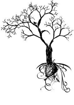 ideas for tree tattoo back women roots ink Tree Sleeve Tattoo, Tree Tattoo Back, Sleeve Tattoos, Silhouette Tattoos, Boys With Tattoos, Small Tattoos, Geometric Trees, Tattoo Son, Jesus Tattoo
