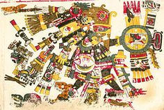 Tezcatlipoca as depicted in the Codex Borgia - Human sacrifice – 10 Aztec sacrifice facts - Fun Facts for Kids Aztec Religion, Ancient Aztecs, Ancient Egypt, Aztec Ruins, Aztec Culture, Mesoamerican, Gods And Goddesses, Art And Architecture, Mexico