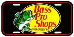 Bass Pro Shops License Plate Cover - Black
