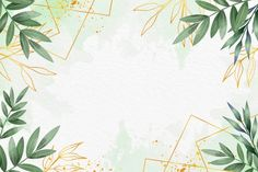 Download Leaves Background With Metallic Foil for free