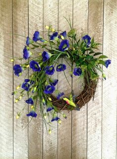 Hummingbird Wreath, Spring Wreath, Summer Wreath Silk Floral Wreath, Front Door Wreath, Wreath on Etsy, by Adorabella Wreaths!