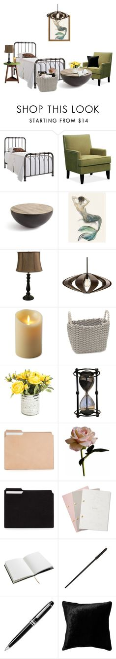 """""""Miss P-Bedroom"""" by mugglebornprincess ❤ liked on Polyvore featuring GO Home Ltd., Arteriors, Luminara, Abigail Ahern, StudioSarah, House of Hackney, Montblanc, Squarefeathers and bedroom"""